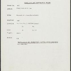 Image for K1663 - Condition and restoration record, circa 1950s-1960s