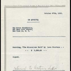 Image for Other documentation - Weitzner, Julius, 1952 and undated
