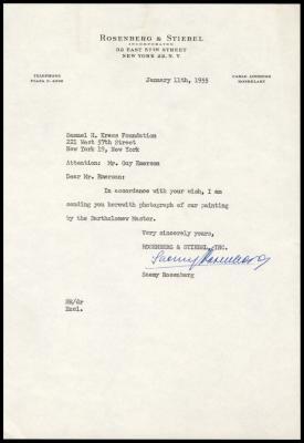 Image for Rosenberg & Stiebel, February 8, 1955