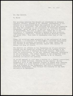 Image for David Koetser Gallery, February 20, 1953