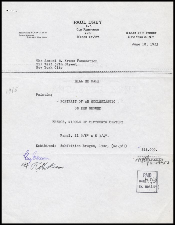 Image for Paul Drey Gallery, June 18, 1953
