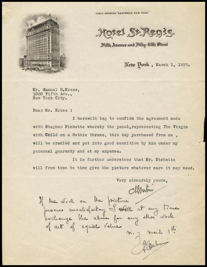 Image for Contini Bonacossi, Alessandro, March 1, 1927