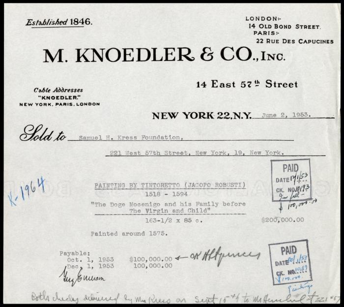 Image for M. Knoedler & Co., June 2, 1953