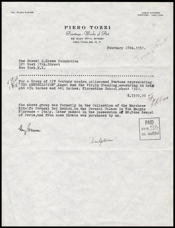Image for Tozzi, Piero, February 28, 1952