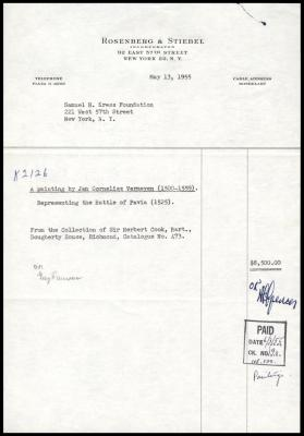 Image for Rosenberg & Stiebel, May 13, 1955 [1]