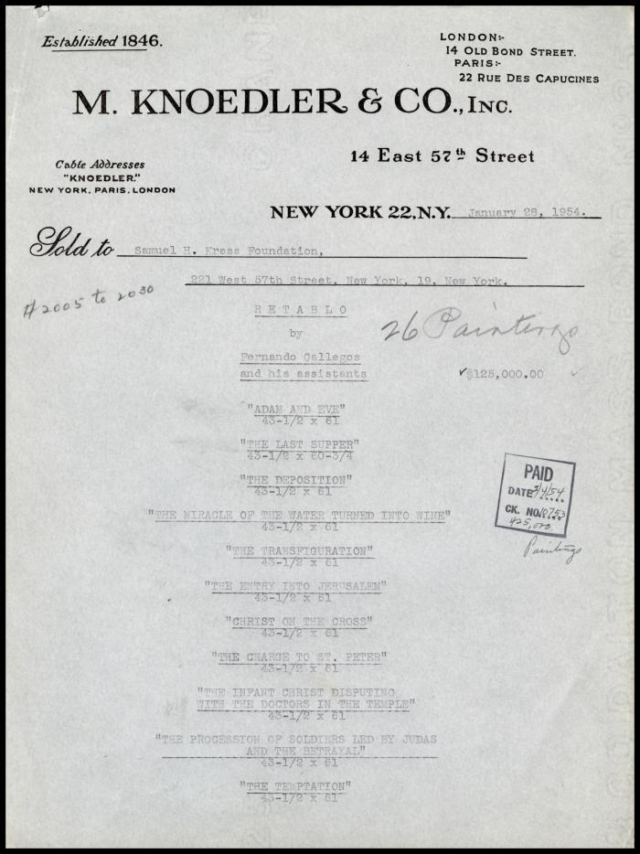 Image for M. Knoedler & Co., January 28, 1954 [5]