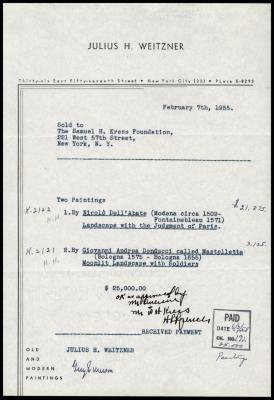 Image for Weitzner, Julius, February 7, 1955