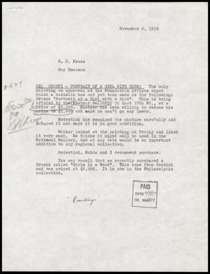 Image for David Koetser Gallery, November 8, 1950