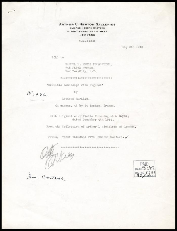 Image for Arthur U. Newton Galleries, May 6, 1948