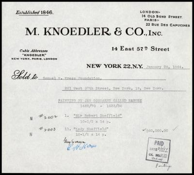 Image for M. Knoedler & Co., January 28, 1954 [3]