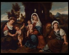 Image for Madonna and Child with Three Saints and John