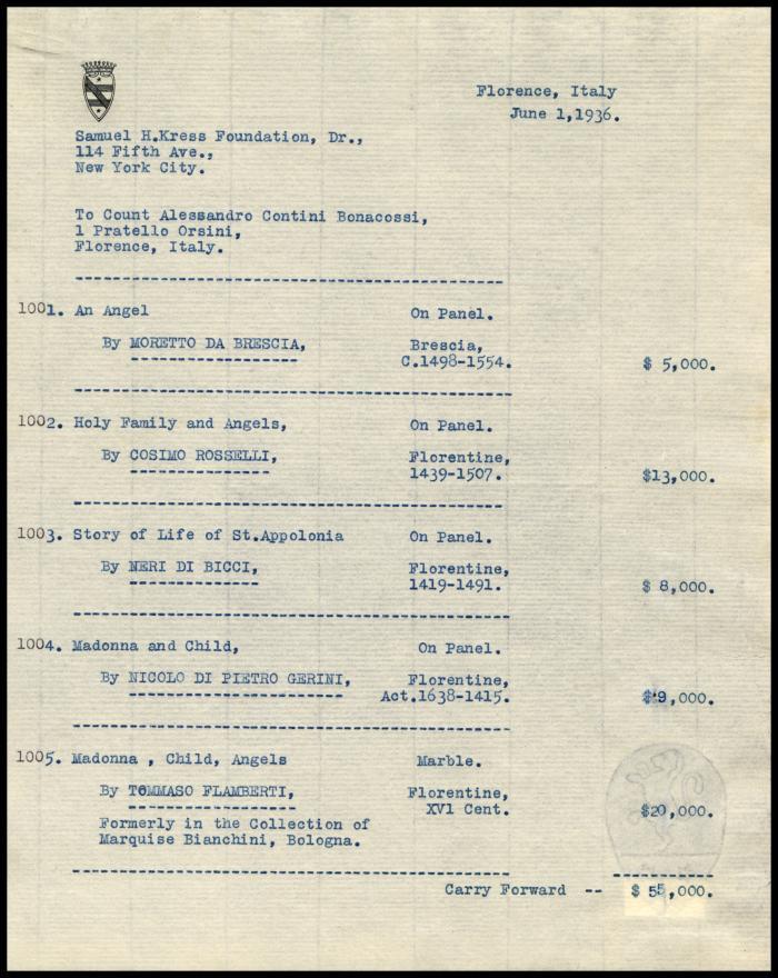 Image for Contini Bonacossi, Alessandro, June 1, 1936[2]