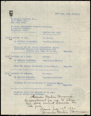 Image for Contini Bonacossi, Alessandro, June 24, 1933