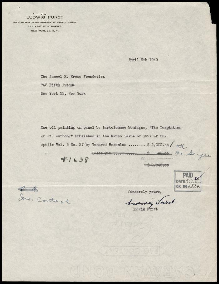 Image for Furst, Ludwig, April 6, 1949