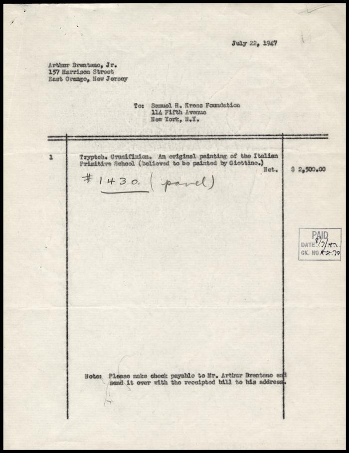 Image for Brentano, Arthur, Jr., July 22, 1947
