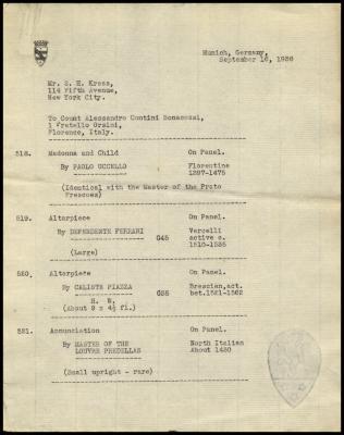 Image for Contini Bonacossi, Alessandro, September 16, 1938[2]