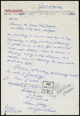 Image for Aram Gallery, January 28, 1954