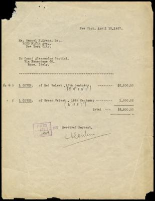 Image for Contini Bonacossi, Alessandro, April 12, 1927