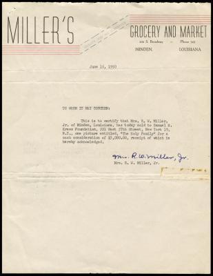 Image for Miller, Mrs. R. W., Jr., June 15, 1950