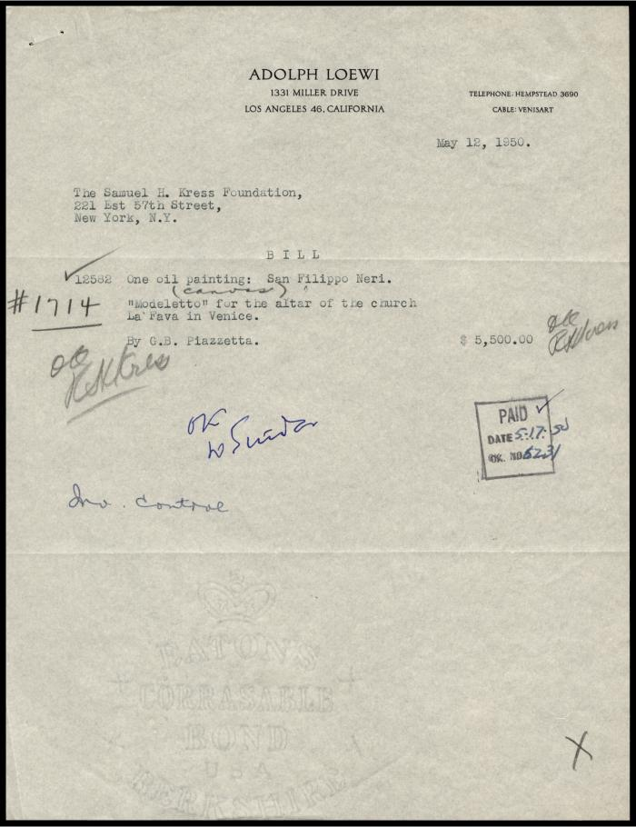 Image for Loewi, Adolph, December 7, 1936