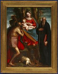 Image for Madonna and Child with Saint John the Baptist and Saint Benedict