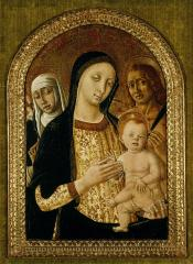 Image for Virgin and Child with Saints Catherine of Siena and Sebastian