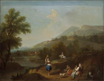 Image for Idyllic Landscape with Figures