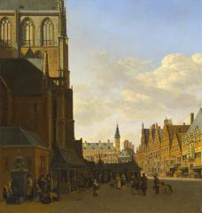 Image for The Fish Market and the Grote Kerk at Haarlem