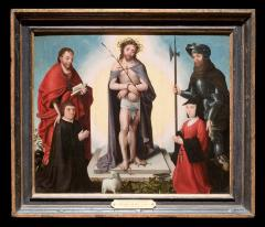Image for The Man of Sorrows with Saints and Donors