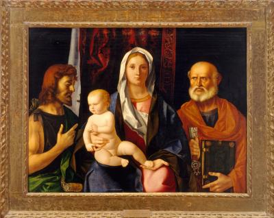 Image for Madonna and Child with Saint John the Baptist and Saint Peter