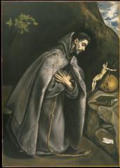 Image for Saint Francis Venerating the Crucifix