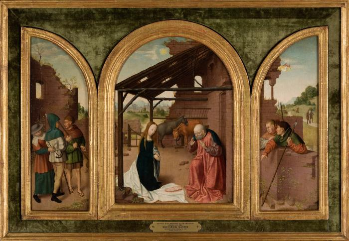 Image for Nativity with Adoration of the Shepherds (Triptych)