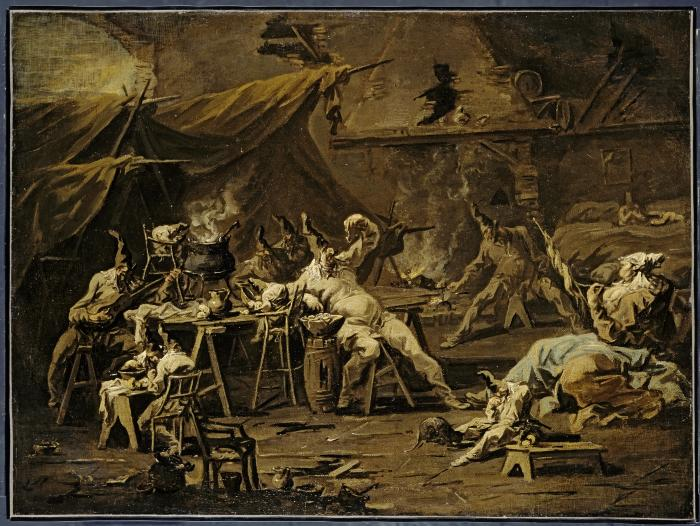 Image for The Supper of Pulcinella and Colombina