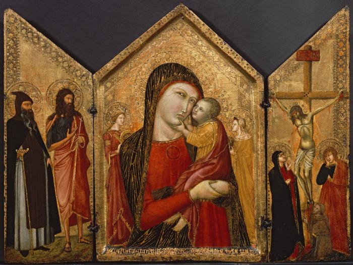 Image for Madonna and Child, Crucifixion, and Saints