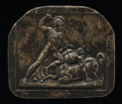 Image for A Warrior Fighting a Centaur