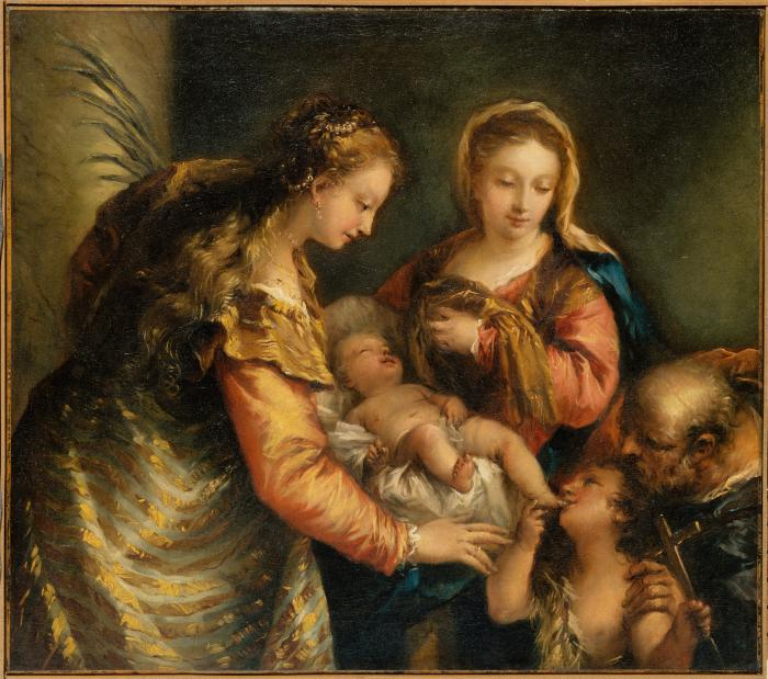 Image for The Holy Family with John the Baptist and Saint Catherine