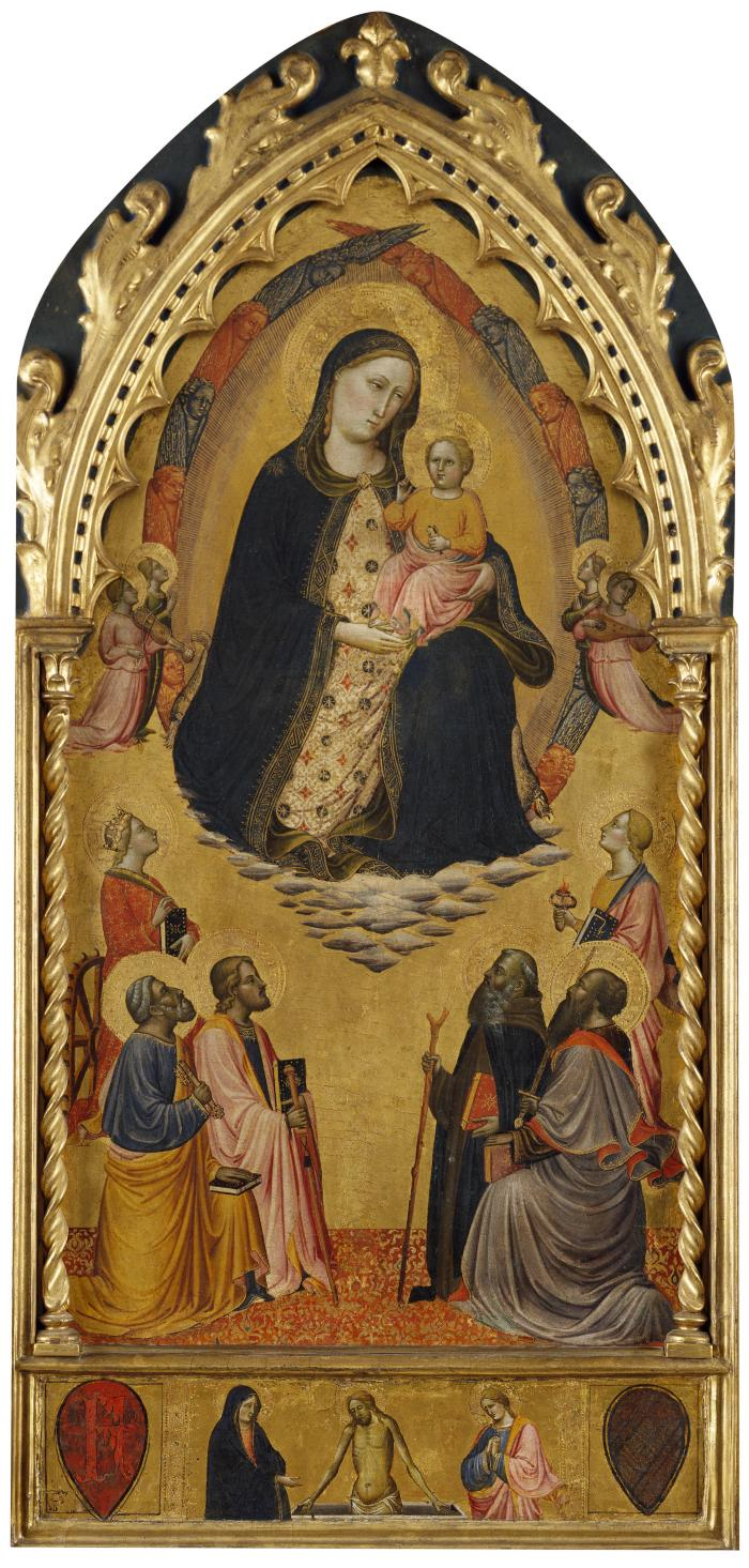 Image for Madonna and Child with Angels and Saints Catherine, Peter, James, Lucy, Anthony Abbot and Paul