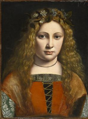 Image for Portrait of a Young Girl Crowned with Flowers
