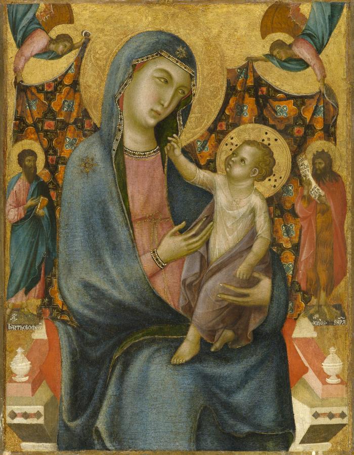 Image for Madonna and Child with Saint Bartholomew and Saint John the Baptist