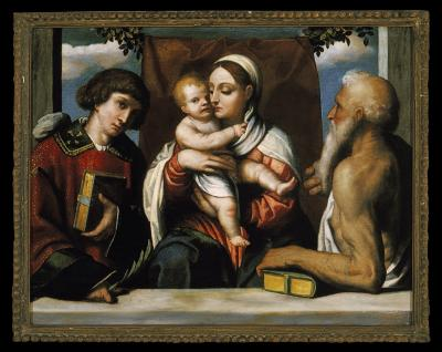 Image for Madonna and Child with Saint Stephen and Saint Jerome