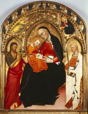 Image for Madonna and Child, Saint John the Baptist and Saint Catherine