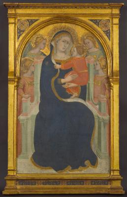 Image for Madonna and Child Enthroned with Angels