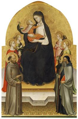 Image for Madonna and Christ Child with Angels and Saints Mary Magdalene, Francis, Dorothy, and Anthony Abbot