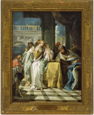 Image for The Child Moses Spurns the Crown of Pharaoh