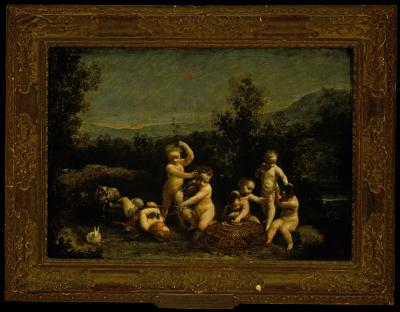 Image for Putti Frolicking with Birds