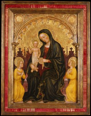 Image for Enthroned Madonna and Child with Two Angels