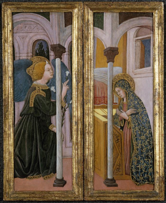 Image for The Virgin Annunciate and the Archangel Gabriel