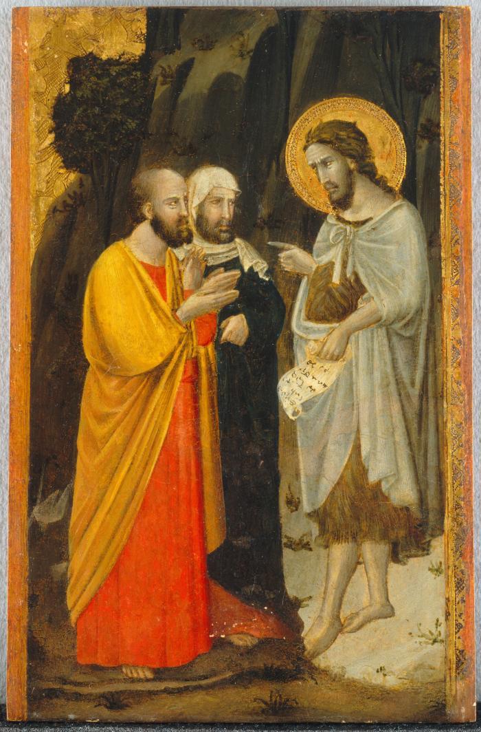 Image for Saint John the Baptist Meets Two Pharisees
