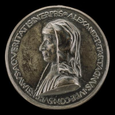 Image for Alessandro Tartagni, 1421-1477, Lawyer [obverse]; Mercury Seated on a Dragon [reverse]