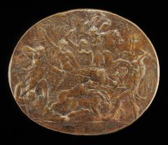 Image for A Boar Hunt [obverse]; Portrait of a Young Man in Oil [reverse]